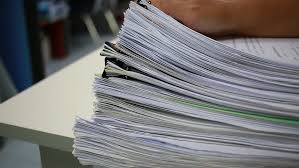 desk office file document paper. Working In Stack Of Paper Files On Work Desk Office - HD Stock Video Clip File Document