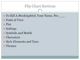 To Kill A Mockingbird Flip Chart Ppt Download