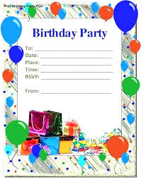 invitation card format for birthday invitation format for birthday free birthday invitations together with um size