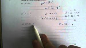quadratics q1 gcse maths revision walking talking topics with mr barton