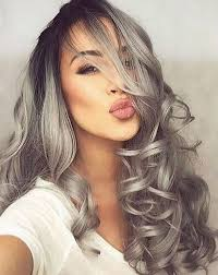 salt and pepper gray on big wavy hairstyle