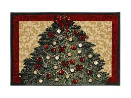 shaw living holiday collection tree area rug multi 2 7 x 3