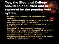 electoral college should be abolished essay  electoral college should be abolished essay