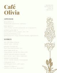 Fancy Restaurant Menu Brown Gold Elegant Fancy Illustration Plant Restaurant Menu