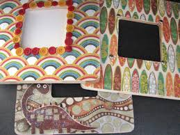 Decoupage Mosaic Frame