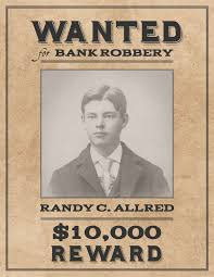 Example Of A Wanted Poster Wanted poster example western template recent likeness 24 1