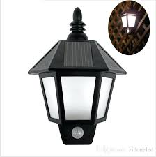 modern solar lights outdoor wall new led light lighting motion sensor activated hexagonal lamp for garden decoration from powered