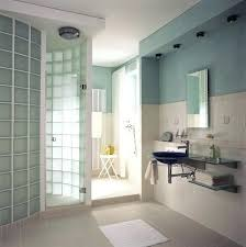 glass block shower window with vent