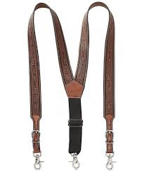 nocona belt co leather suspender