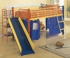 bunk bed with slide and tent. Image Of: Bunk Beds With Slide And Desk Bed Tent B