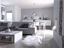 long haired sheepskin rug in gray living room