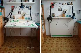 Mesa De Dibujo/estudio Plegable En Bricolaje