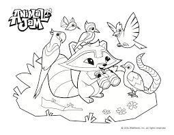 Animal Jam Coloring Pages Celebrate Spring And The Environment With