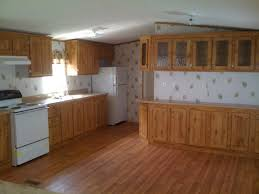 Red Oak Wood Cordovan Windham Door Mobile Home Kitchen Cabinets Backsplash  Mirror Tile Marble Quartz Countertops
