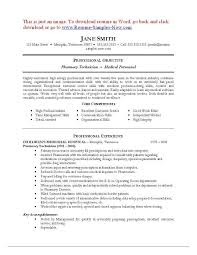 Pharmacy Technician Resume Sample Examples Of For Perfect Resume