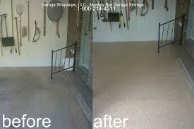 garage floor paint before and after. Plain After Floor Color Desert Sand  This Floor Had Extensive Crack Repair On Garage Paint Before And After L