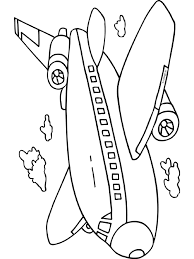 Kleurplaat Vliegtuig Vakantie Vliegen Kleurplatennl