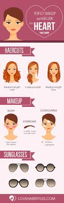 makeup hair ideas inspiration facebook twitter google y haircuts for heart shaped faces that you