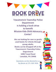 book drive for mission kids