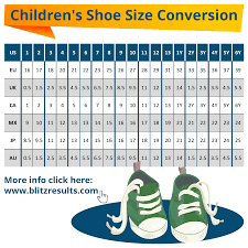 5 Year Old Boy Shoe Size Chart Kids Shoe Sizes Conversion Charts Size By Age How To