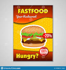 Flyer Design Food Fast Food Or Burgers Flyer Design Template In A5 Or A4 Size