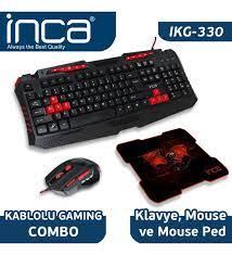 Inca IKG-330 Türkçe Gaming Combo Set Oyuncu Klavye + Mouse + Mousepad