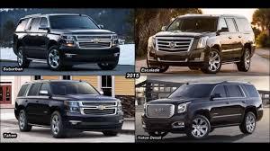 2015 Cadillac Escalade vs Chevy Suburban vs GMC Yukon Denali vs ...