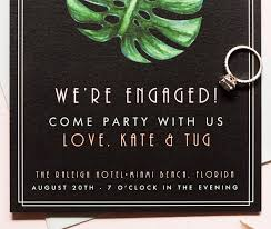 tropical art deco enement party invitations by suite paperie