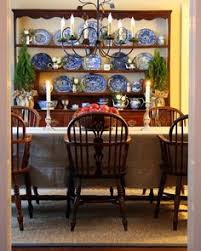 welsh dresser windsor chairs blue transferware oh how lovely find this pin and more on dining