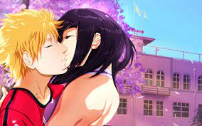 2811322 / naruto shippuuden manga anime uzumaki naruto hyuuga hinata kissing  cherry blossom wallpaper