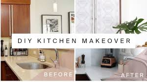 Rental Kitchen Makeover Diy Marble Countertops Cabinet