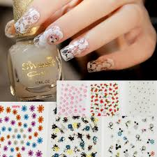 Decorative Nail Art Designs New Fashion 100 sheets Mix color 100D Floral Design Nail Art Stickers 55