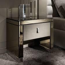 Mirrored bedside furniture Glitz Modern Mirrored Bedside Tables Casailbcom Modern Mirrored Bedside Tables New Home Design Purchasing
