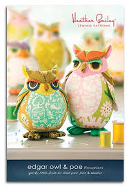 Owl Pattern Extraordinary Edgar Owl And Poe Pincushions Sewing Pattern