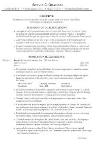 Investment Banking Analyst Resume Business Template Free Samples
