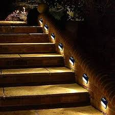 Image Wall Sconce Pack Solar Powered Wall Lights Solar Stair Lights Outdoor Led Step Light Wall Amazoncom Amazoncom Pack Solar Powered Wall Lights Solar Stair Lights