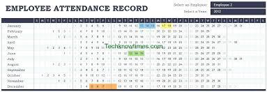 Attendance Tracker Spreadsheet Employee Monthly Attendance Sheet Template Excel Tracker