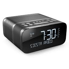 siesta charge graphite alarm clock radio