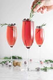 easy cranberry mimosa poinsettia