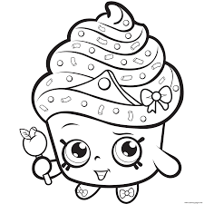 Cupcakes Printable Coloring Pages