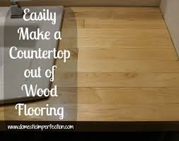 how to build a countertop out of wood flooring