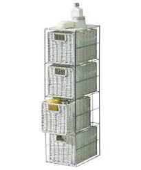 bathroom storage tower. fantastic looking stylish slimline 4 drawer storage tower metal frame u0026 wicker baskets bathroom