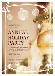 wednesday p m to p m riasla annual 2014 holiday party invitation draft