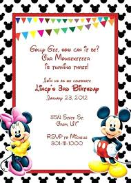 mickey mouse party invitation mickey mouse party invitations templates birthday invitation