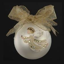 Hand Decorated Christmas Balls Sarabella HandPainted Angel With Snowflake Glass Ball Christmas 23