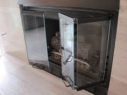 Replacement fireplace doors contemporary-living-room