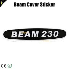 Light Beam Logo Us 9 0 Stage Light Fixtures Arm Cover Sticker Beam 200 230 260 330 Thin Film Epoxy Logo Name Stickers In Stage Lighting Effect From Lights