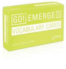 vocab cards with pictures go emerge vocabulary cards saddleback 97816802146417