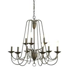 stirring photo 3 of 8 in 9 light aged bronze candle chandelier allen roth eastview impressive