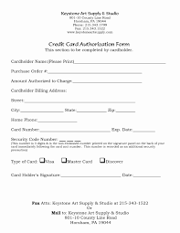 Credit Card Authorization Form Word Credit Card Authorization Form Template Word Of 5 Credit Card Form